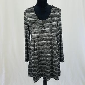 Soma women L knit lounge dress long sleeve scoop n